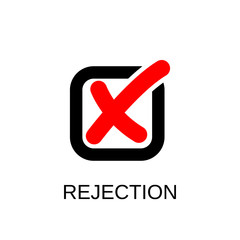 Check mark icon. Rejection symbol design. Stock - Vector illustration can be used for web.