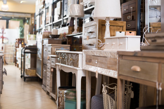 Furniture offered for sale in secondhand market