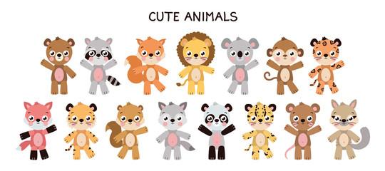 Different cute animal set
