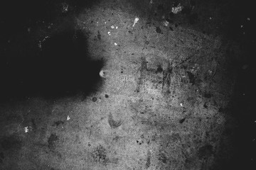 Image of old scratched texture in black and white colors