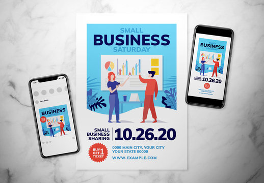 Small Business Saturday Event Flyer