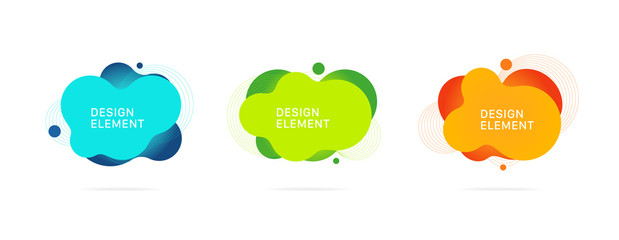 Abstract Graphic elements Vector, Gradient abstract banners with flowing liquid shapes