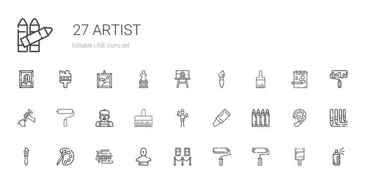 artist icons set