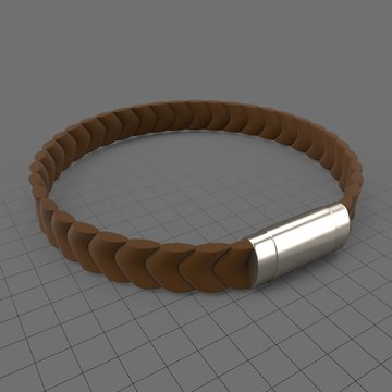 Silicon bracelet with metal tag