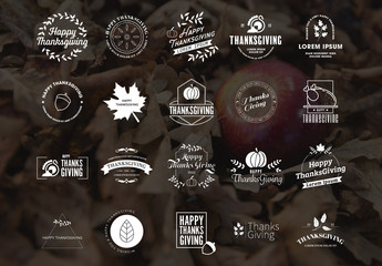 Thanksgiving Logo Pack