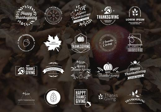 Thanksgiving Logo Pack