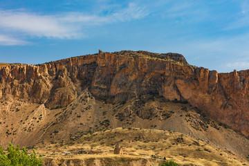 Holy Mother of God Church in Areni Vayots Dzor landscape moutains landmark of Armenia eastern Europe