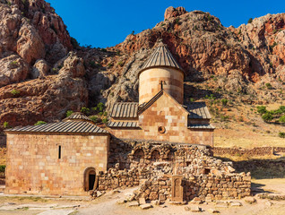 Monastery church of Khor Virap in Noravank Vayots Dzor landscape landmark of Armenia eastern Europe