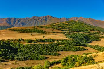 panorama landscape mountains of Tatev landmark of Syunik province Armenia eastern Europe