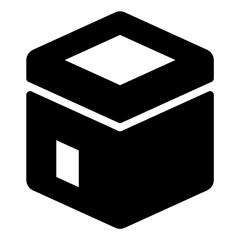 Kabah Glyph Icon Vector
