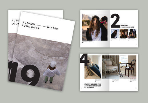 Catalog Layout with Bold Typography