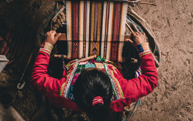 Indigenous lady working