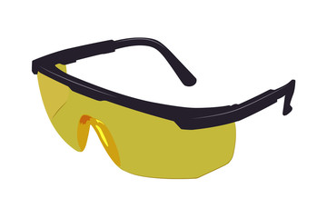 vector illustration protection working glasses