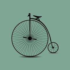 Photo sur Aluminium Bicycle icon on white background
