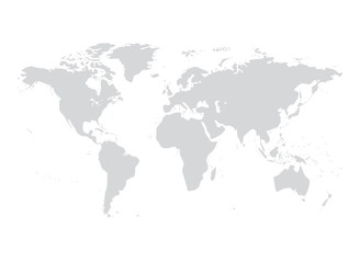Vector world map illustration australia, asia america europe