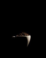 many freshly roasted coffee beans