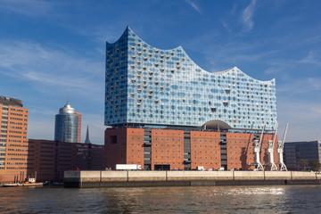 Elbphilharmonie in the harbour of Hamburg, Germany.