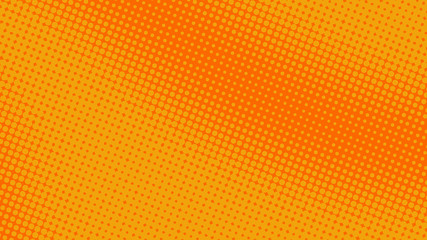 Yellow and orange pop art retro comic background with halftone dots desing, vector illustration eps10 Fotomurales