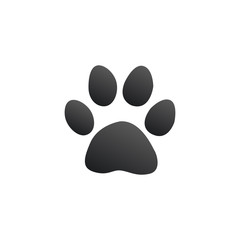 Paw print, animal footprint, pat icon. Stock Vector illustration isolated on white background.
