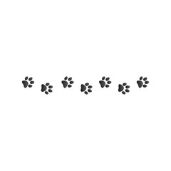 animal paw prints, Stock Vector illustration isolated on white background.