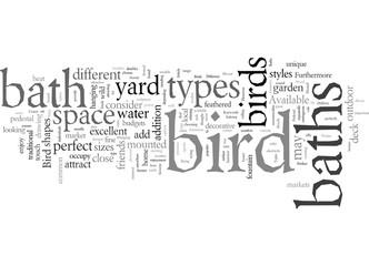 Different Types Of Bird Baths