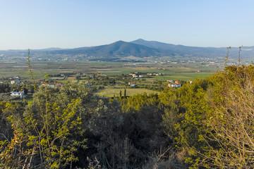 Mount Chortiatis and rural land of Chalkidiki, Greece