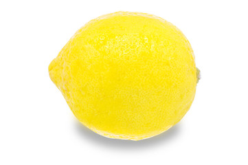 Whole lemon, clipping path, isolated on a white background