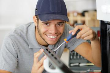 happy handy man home repair
