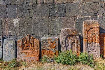 Khachkar tombstone of the Vorotnavank church near vorotan landmark of Syunik province Armenia eastern Europe