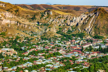 Fototapete - Zangezur Mountains in Goris Skyline landmark of Syunik province Armenia eastern Europe