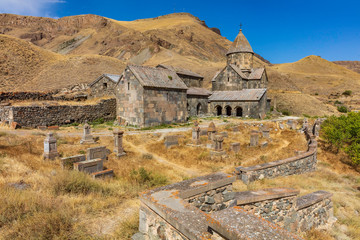 Vorotnavank church near vorotan landmark of Syunik province Armenia eastern Europe