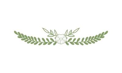 Hand drawn floral wreaths, vector graphic circle frames logo