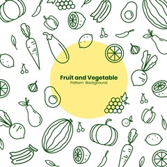Fruit and Vegetable icon on vector art