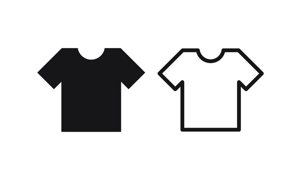 tshirt icon in trendy flat style