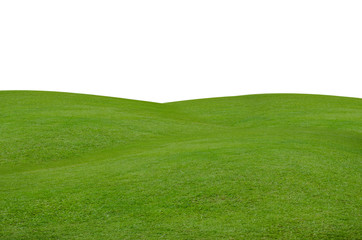 Green grass field isolated on white background with clipping path. Fototapete