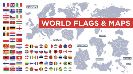 World flags vector collection