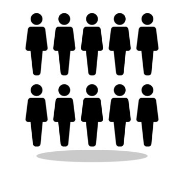 People icon in flat style. Group of people symbol for your web site design, logo, app, UI Vector EPS 10.