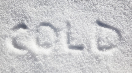 cold written in snow