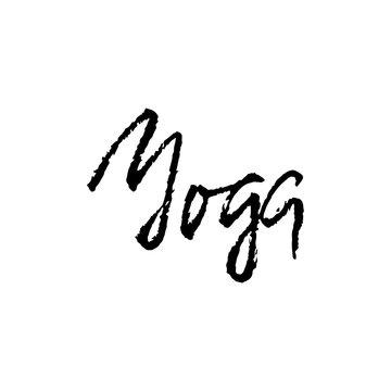Yoga dry brush lettering on. Yoga typography poster. Vector illustration.