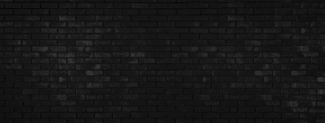 Large black brick interior wall - ideal background for your project or decoration (high details)