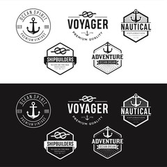 Set Of Nautical Logos, Badges And Labels Royalty Free Cliparts, Vectors, And Stock Illustration . Vintage Nautical Logo