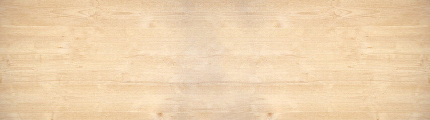 Poster Wood old brown rustic light bright wooden maple texture - wood background panorama banner long