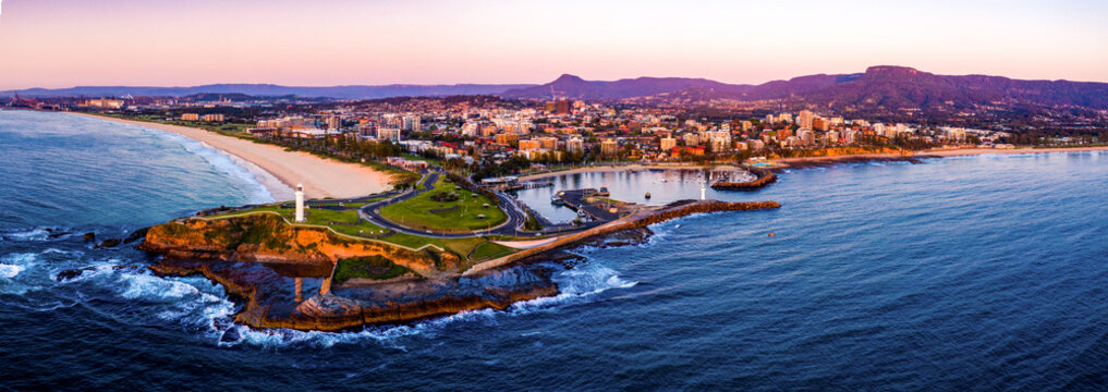 Here is a view of Wollongong, Australia. Such a pretty city surrounded by mountain ranges.