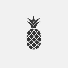 pineapple vector icon flat style