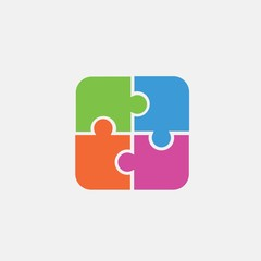 puzzle piece icon isolated vector trend