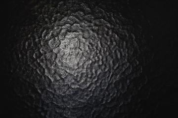 Relief embossed glass background. Black wavy glass texture desktop pattern