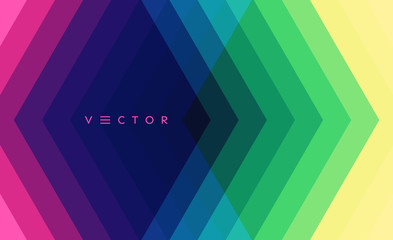 Geometric background with straight lines. Modern screen design for mobile app and web. 3d vector illustration for brochure, banner, flyer or presentation.