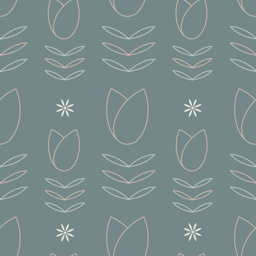 Vector abstract floral seamless pattern background