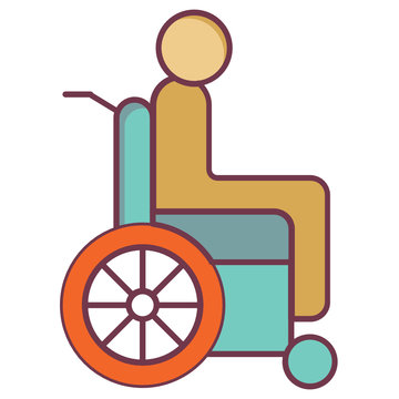 Long and Short term disability benefits Concept , Injury at Workplace Design income protection Icon