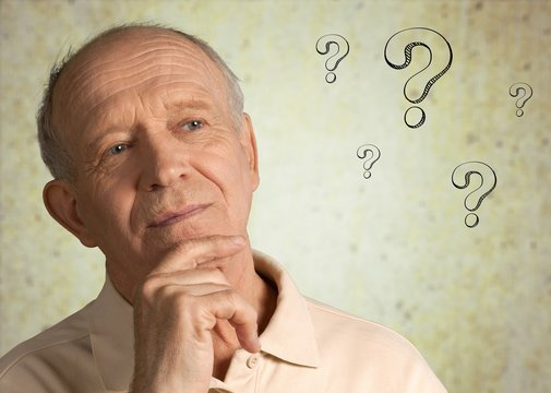 Question senior old person mark worried health